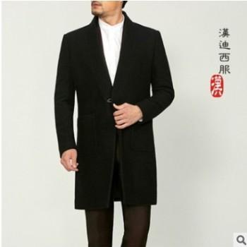 团体定制中长款毛呢外套呢子大衣量身定做商务休闲羊绒大衣英伦男