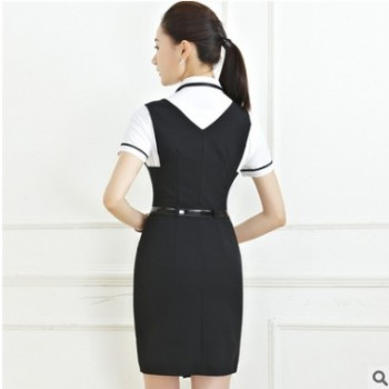 2018春夏新款职业套装女 OL时尚短袖职业装套装女式套裙工作服