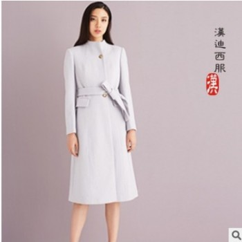 中长款毛呢外套团体定制呢子大衣定做商务休闲羊绒大衣韩版修身女