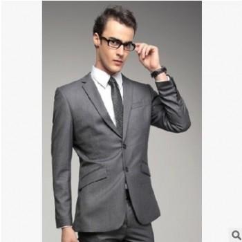 【厂家现货】商务休闲男士西装 职业西服套装 上门量身定做工作服