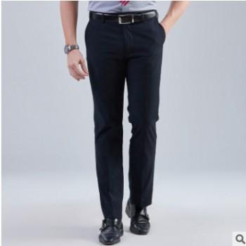 男士西裤韩版修身直筒宽松青年商务职业西服西装正装大码休闲裤子