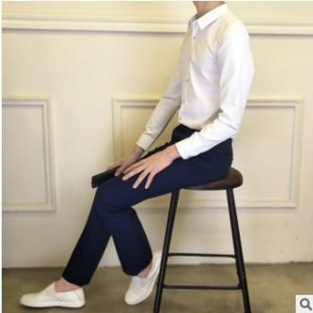 新款男式修身西裤 婚礼上班族小脚裤西装裤男式商务正装西裤