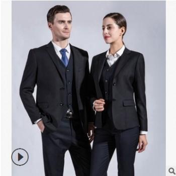 秋冬季男女同款职业装套装西装西服套裤4S店房地产销售保险工作服