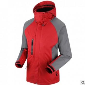 厂家批发秋冬季冲锋衣定制印LOGO加绒加厚连帽外套户外旅游工作服