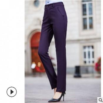 德丽职业装2019四季时尚男女同款男二色女三色长裤正装暗格西裤