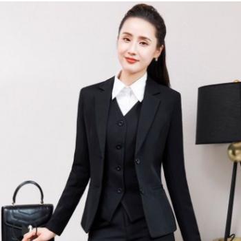 厂家直销职业装女套装2019秋季新款西装套裤女士正装修身工作服