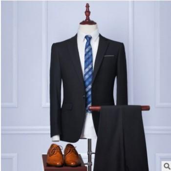定制西装 男式西服套装商务正装 量身定做婚礼新郎服装 修身