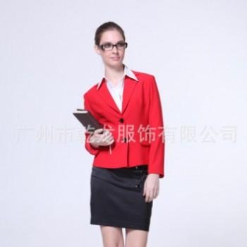定做秋冬欧美职业装套裙 OL办公女式衬衫西装套装 行政司法时尚装
