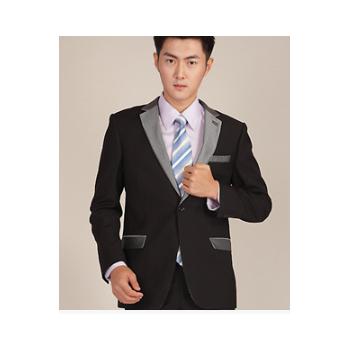 采琳轩春秋新款西服 男士西装西服套装 男修身韩版商务职业正装