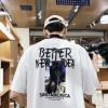 2019新款夏季短袖t恤男士圆领宽松半袖ins潮流五分袖衣服学生体恤