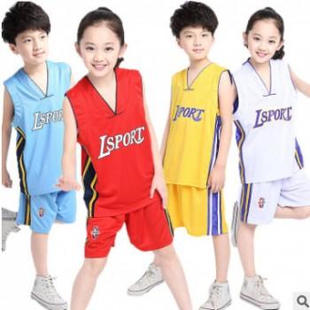 回正品牌2019新款夏季男女童篮球服中大童NBA球队篮球服运动套装