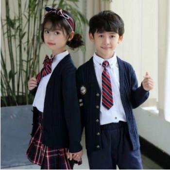 英伦风西服套装衬衫毛背心幼儿园园服学生校服儿童班服