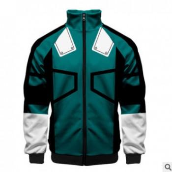 新版型3D数码印花 夹克卫衣3d立领拉链插肩外套(定制款)