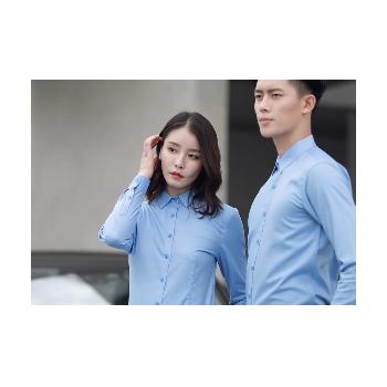 男女同款商务白领长袖衬衫汽车销售4S店行政大学生辩论面试工作服