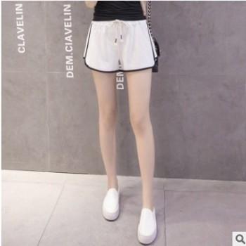 韩版运动短裤 女三分跑步裤 宽松休闲短裤热裤外穿沙滩裤批发