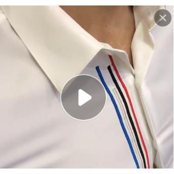2019潮流夏季中袖衬衫男士五分中袖衣时尚白色韩版休闲修身刺绣花
