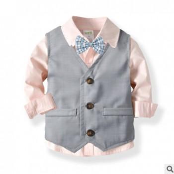 男童礼服套装正装 儿童绅士马甲长裤衬衣英伦风绅士套装礼服