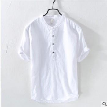 3305亚麻男士T恤