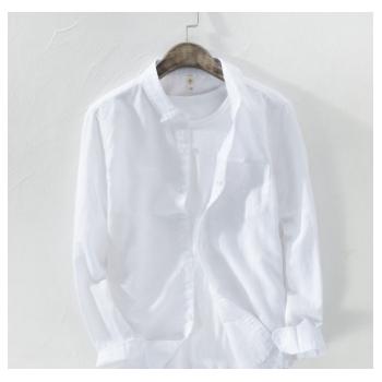 721 男士棉麻衬衣色织麻 (控价不可低于128)