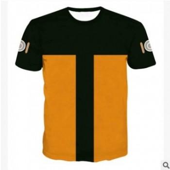 亚马逊夏季新款男装T恤 动漫火影忍者男士短袖跨境男装一件代发