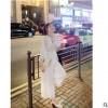 女装2019秋季新款韩版休闲白色蕾丝高腰超仙的九分阔腿连体裤薄款