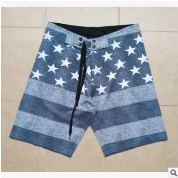 夏男士速干运动休闲裤修身四面弹力松紧腰沙滩裤男加肥加大码短裤