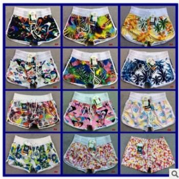 厂家直销韩版女式桃皮绒速干沙滩裤冲浪裤性感休闲短裤女士运动裤