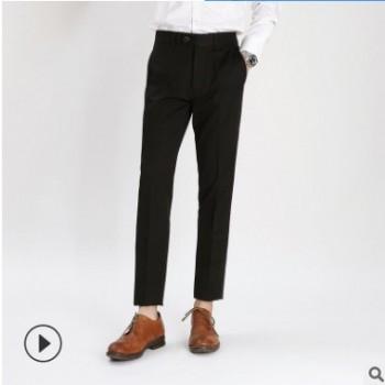 2019新款夏季薄款时尚商务免烫西裤男韩版青年修身休闲长裤子批发