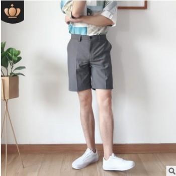 短裤男青年休闲短裤夏季薄款西装小短裤潮流百搭直筒五分男士短裤