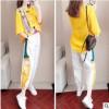 休闲运动套装女夏季2019新款潮牌时尚洋气显瘦韩版港味长裤两件套