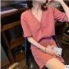 网红2019夏装新品设计感气质针织套装温柔风短袖开衫半裙两件套潮