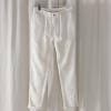 新款亚麻纯色休闲百搭休闲裤白色沙滩防紫外线长裤工厂直销0808