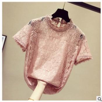 【好质量 多款拼】2019新款蕾丝拼接超仙洋气短袖上衣