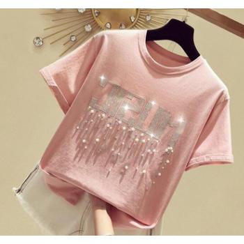 《95棉》2019新款韩版宽松时尚卡通女生短袖T恤