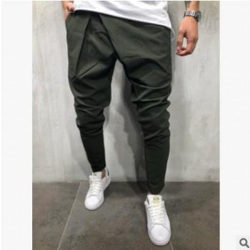 2018跨境新款男式休闲裤 修身男长裤 弹力小脚小西裤青年潮流男裤