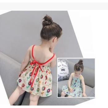 棒棒糖童装女童夏季公主裙连衣裙韩版无袖吊带裙厂家直销工厂代发