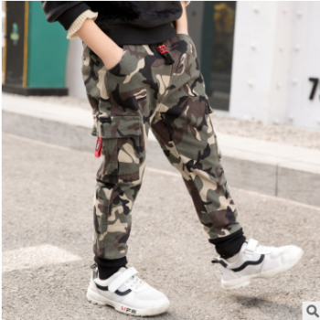 包邮 儿童迷彩裤2019春装儿童裤子一件代发
