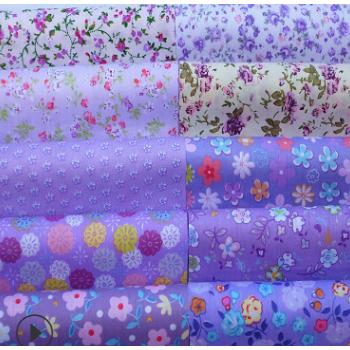 厂家直销 手工diy拼布紫色系布组材料40*50厘米 全棉小碎花布料