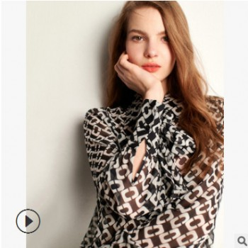 淘工厂专业生产中高端女装雪纺衫加工定制小批量 服装加工订单