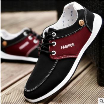 一件代发夏季透气休闲运动单鞋帆布鞋轻便户外旅游鞋潮流板鞋男士
