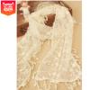 vivi甜美复古镂空流苏蕾丝围巾 刺绣流苏围巾 跨境货源甜美空调巾