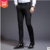 夏季男式休闲裤 四面弹力韩版男长裤 修身小脚小西裤青年男装裤子