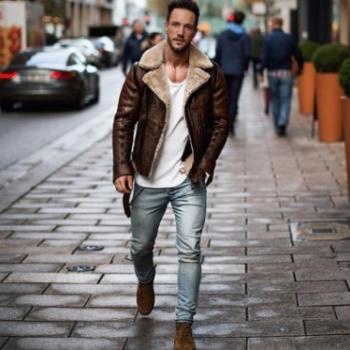 欧美原单爆款街头个性外套卖速卖通亚马逊 皮毛个性外套男