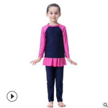 中东女孩泳装保守游泳衣,H2002,速卖通EBAY亚马逊AMAZON热卖
