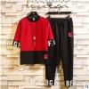 短袖男士运动休闲套装网红一套男装潮流韩版中袖t恤春夏装