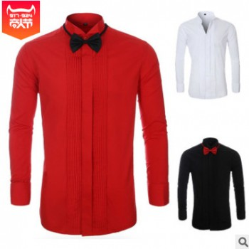 【跨境专供】亚马逊Aliexpress ebay wish礼服full dress shirt
