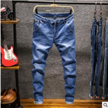 爆款主推弹力小脚牛仔裤男式韩版修身男士牛仔长裤青少年彩色裤子