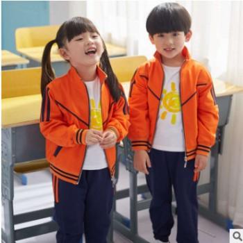 幼儿园园服夏季新款中小学生运动校服纯棉短袖T恤纯色春夏款韩版