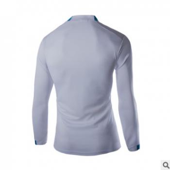 运动T恤亚码逊男装跨境爆款欧美男士长袖紧身弹力速干衣骑行服男