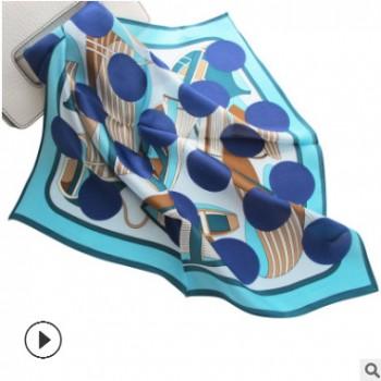 女士职业真丝围巾桑蚕丝礼品小方巾印花雪纺丝巾定制丝绸真丝丝巾